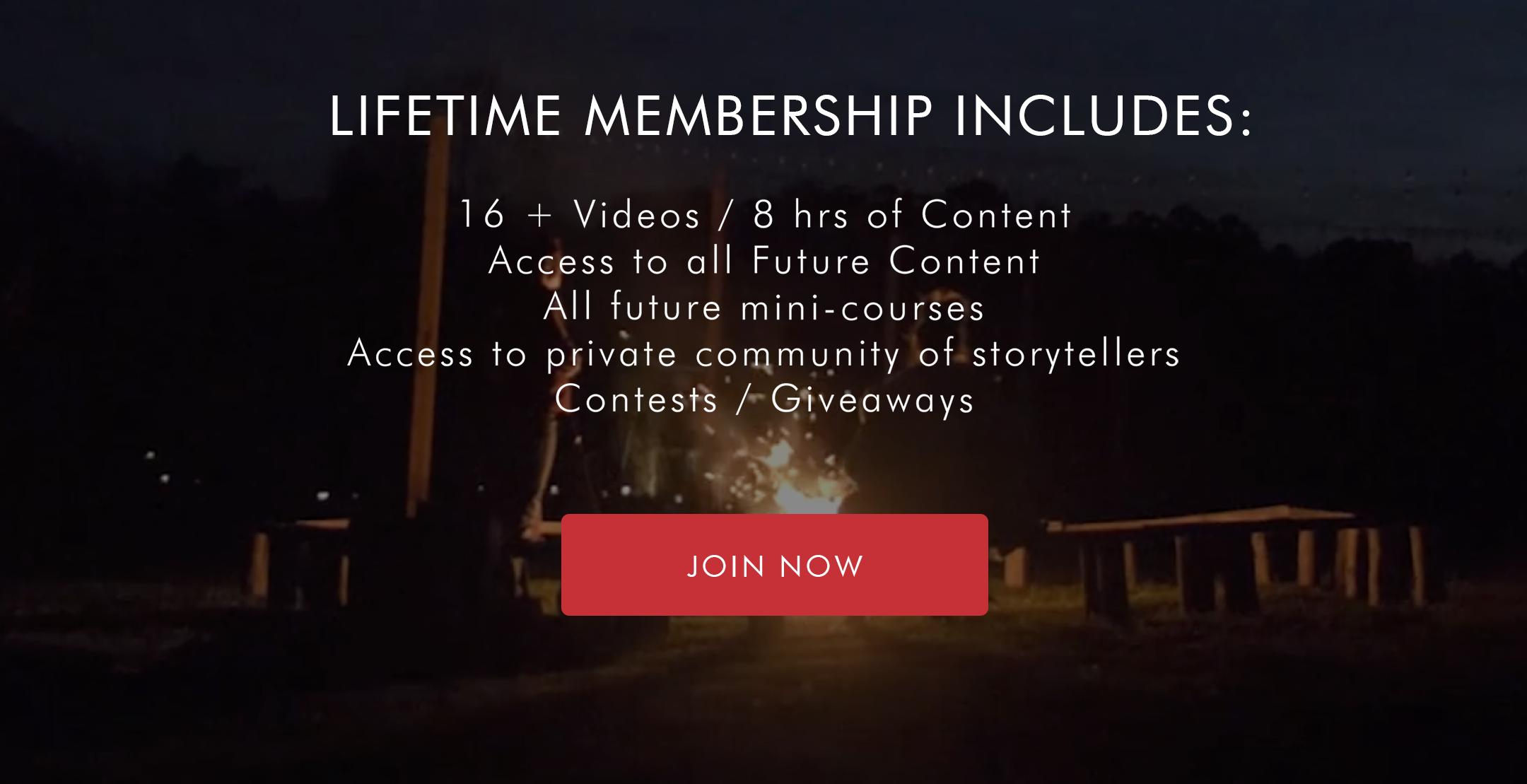 Lifetime membership storyteller